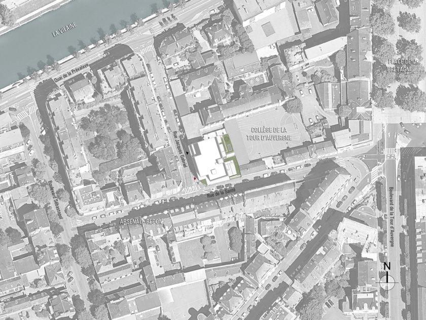 Golhen Associés - Le Gabriel - Rennes - Plan Masse