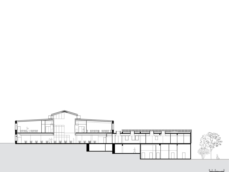 Golhen Associés - Lycée Henri Avril - Lamballe - Coupe
