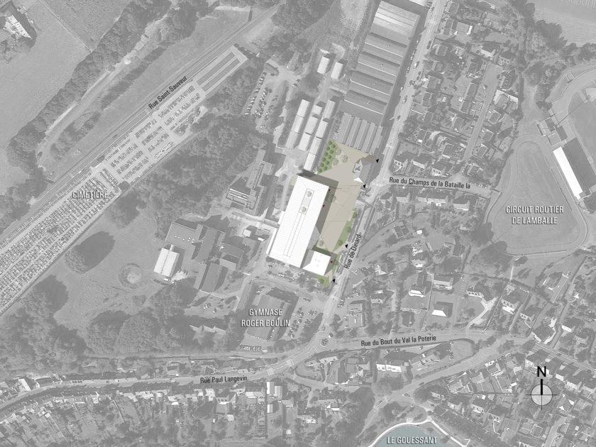 Golhen Associés - Lycée Henri Avril - Lamballe - Plan Masse